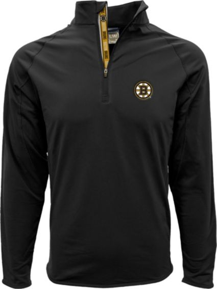 Levelwear Men's Boston Bruins Metro Black Quarter-Zip Pullover