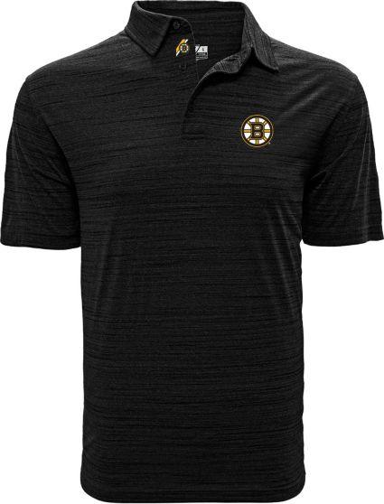Levelwear Men's Boston Bruins Sway Black Polo