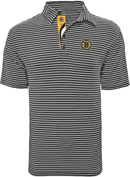 Levelwear Men's Boston Bruins Swerve Grey Polo
