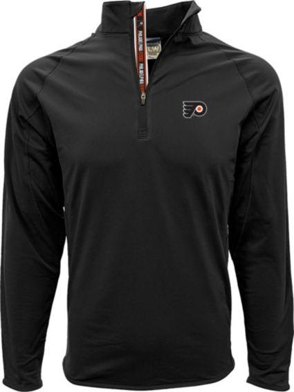 Levelwear Men's Philadelphia Flyers Metro Black Quarter-Zip Pullover