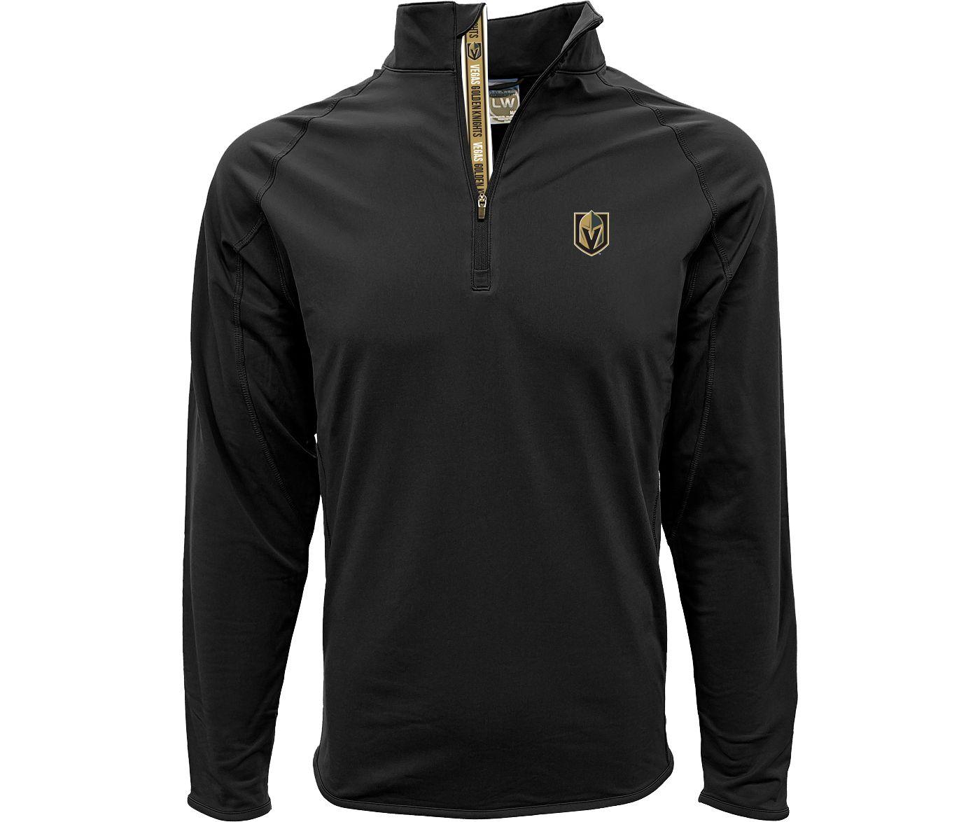 Levelwear Men's Vegas Golden Knights Metro Black Quarter-Zip Pullover