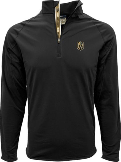 Levelwear Men's Vegas Golden Knights Metro Black Quarter-Zip Pullover