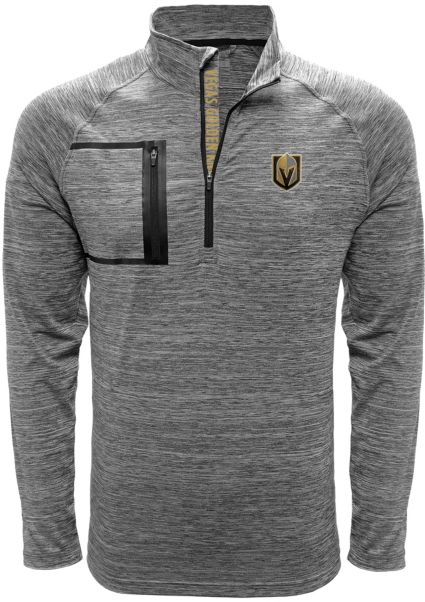 Levelwear Men's Vegas Golden Knights Vault Grey Quarter-Zip Pullover