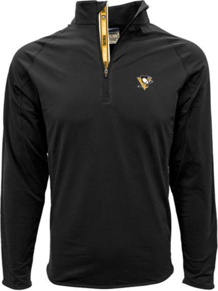 Levelwear Men's Pittsburgh Penguins Metro Black Quarter-Zip Pullover