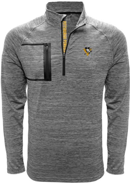 Levelwear Men's Pittsburgh Penguins Vault Grey Quarter-Zip Pullover