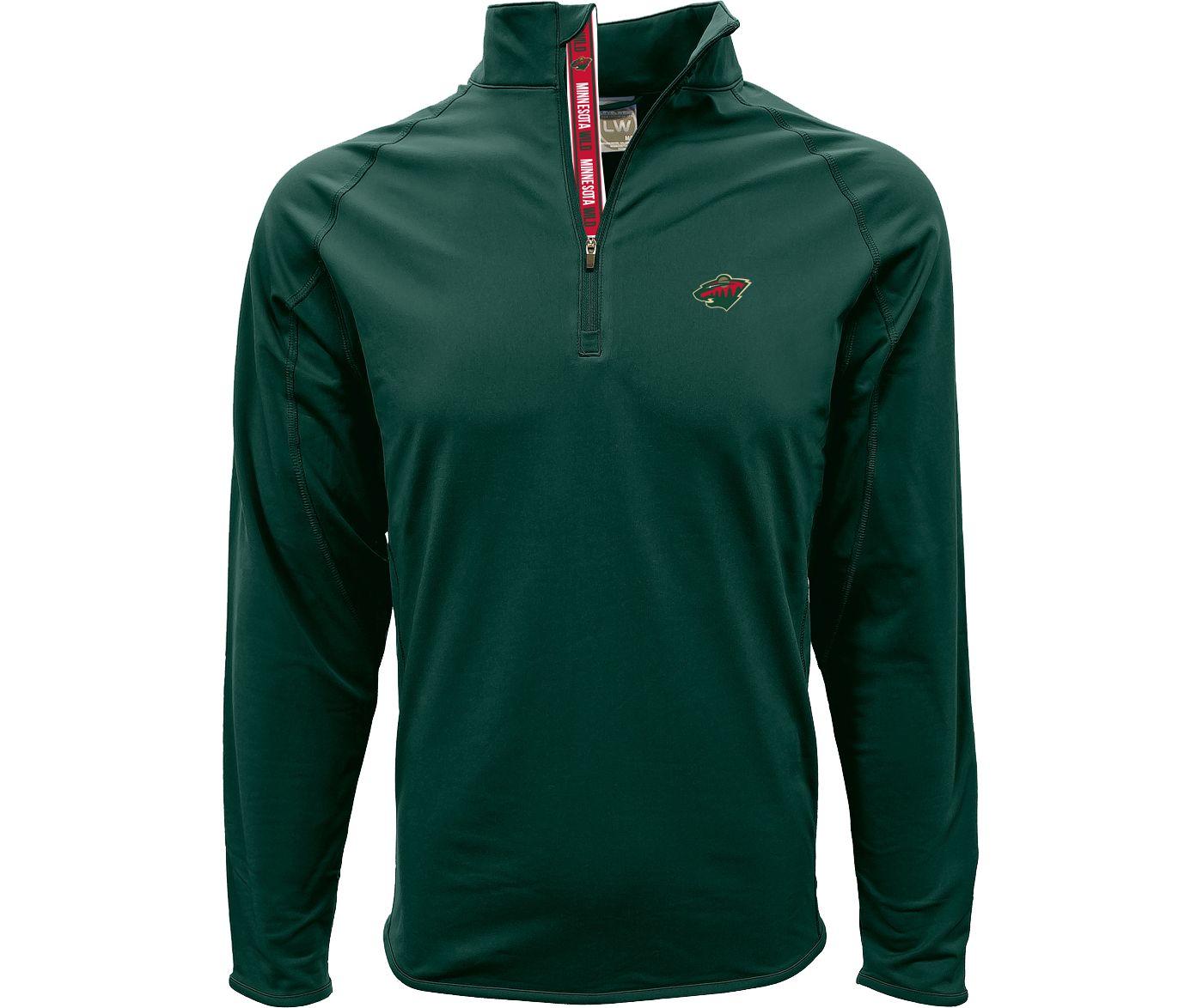 Levelwear Men's Minnesota Wild Metro Green Quarter-Zip Pullover