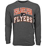 Levelwear Youth Philadelphia Flyers Performance Arch Charcoal Long Sleeve T-Shirt