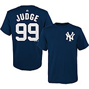 Majestic Boys' New York Yankees Aaron Judge #99 Navy T-Shirt