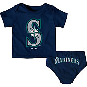 Majestic Infant Seattle Mariners 2-Piece Mini Uniform Set