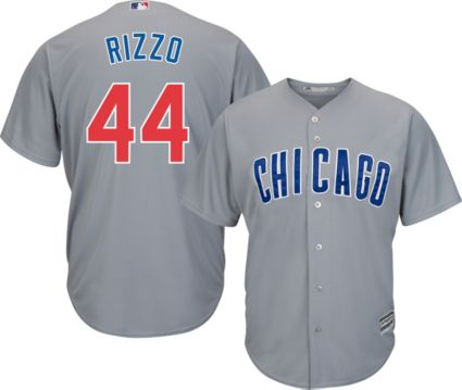87d250cca ... sale majestic mens replica chicago cubs anthony rizzo 44 cool base road grey  jersey c0df4 47f96