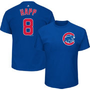 Majestic Men's Chicago Cubs Ian Happ #8 Royal T-Shirt