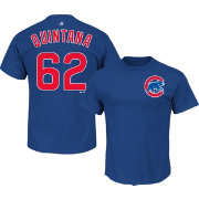 Majestic Men's Chicago Cubs Jose Quintana #62 Royal T-Shirt