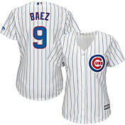 b5ebee0f8 Majestic Womens Replica Chicago Cubs Javier Baez  9 Cool Base Home White  Jersey