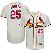 Majestic Men's Authentic St. Louis Cardinals Dexter Fowler #25 Flex Base Alternate Ivory On-Field Jersey