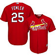 Majestic Men's Replica St. Louis Cardinals Dexter Fowler #25 Cool Base Alternate Red Jersey