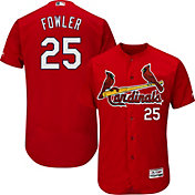 Majestic Men's Authentic St. Louis Cardinals Dexter Fowler #25 Flex Base Alternate Red On-Field Jersey