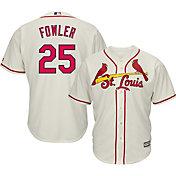 Majestic Men's Replica St. Louis Cardinals Dexter Fowler #25 Cool Base Alternate Ivory Jersey