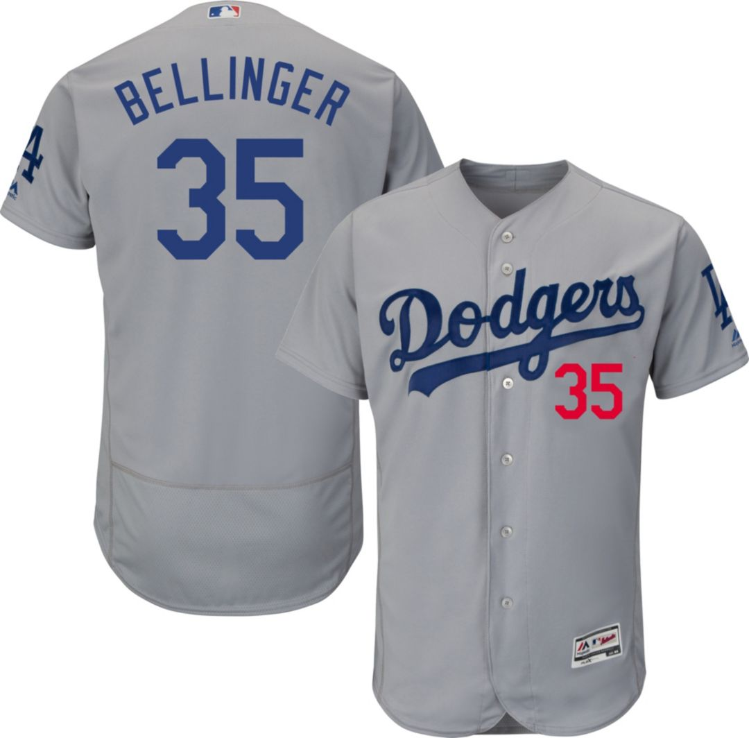 huge selection of 7d1a5 2bd80 Majestic Men's Authentic Los Angeles Dodgers Cody Bellinger #35 Flex Base  Alternate Road Grey On-Field Jersey