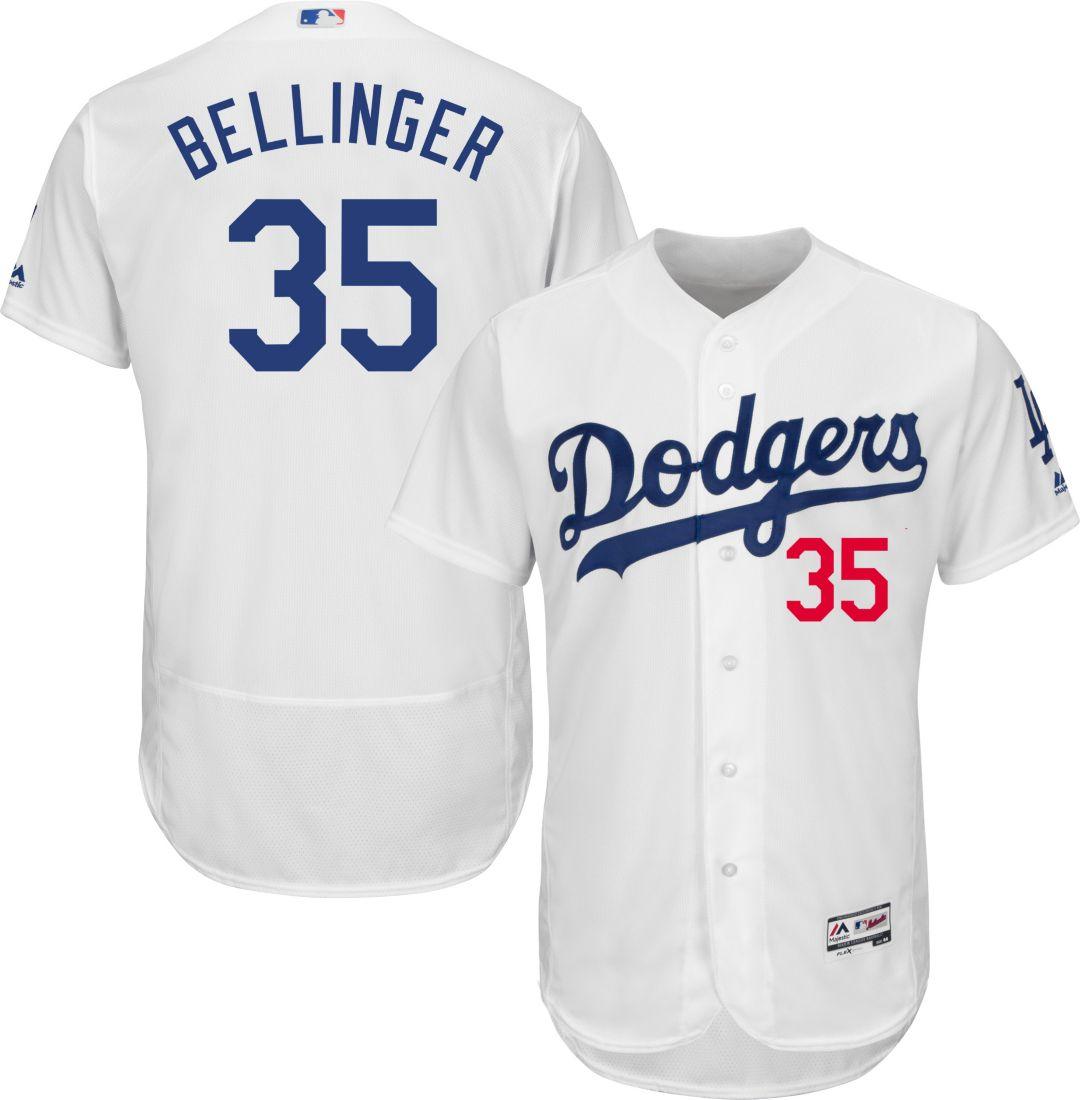 new concept 24feb 92ea7 Majestic Men's Authentic Los Angeles Dodgers Cody Bellinger #35 Flex Base  Home White On-Field Jersey