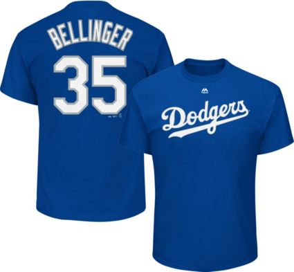 Majestic Men s Los Angeles Dodgers Cody Bellinger  35 Royal T-Shirt ... 583a3618237