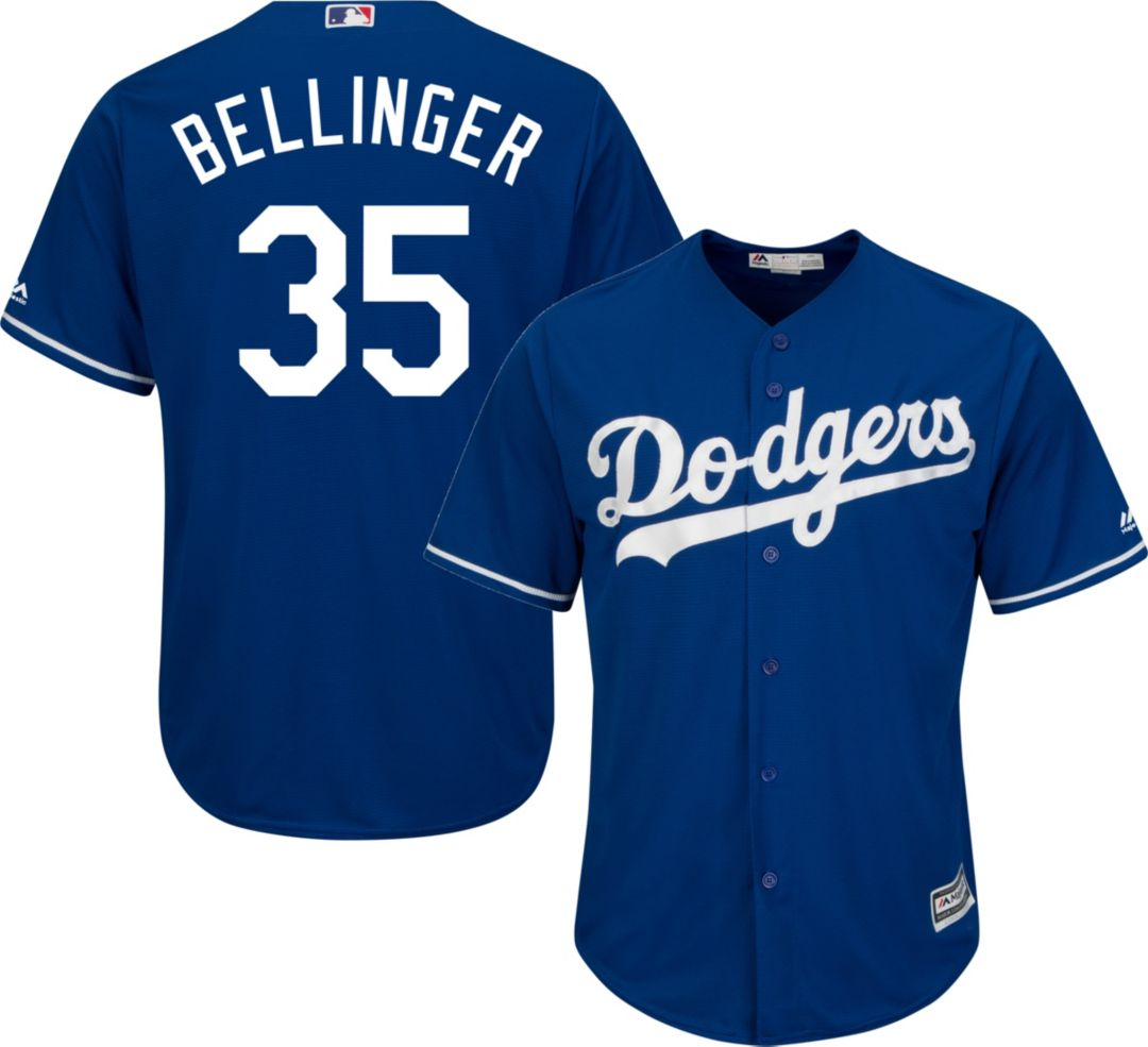 competitive price 9cf0a 89ce5 Majestic Men's Replica Los Angeles Dodgers Cody Bellinger #35 Cool Base  Alternate Royal Jersey