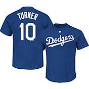 Majestic Men's Los Angeles Dodgers Justin Turner #10 Royal T-Shirt