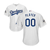 Majestic Men's Full Roster Replica 2017 World Series Los Angeles Dodgers Cool Base Home White Jersey