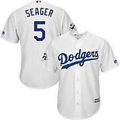 Majestic Men's 2017 World Series Replica Los Angeles Dodgers Corey Seager Cool Base Home White Jersey
