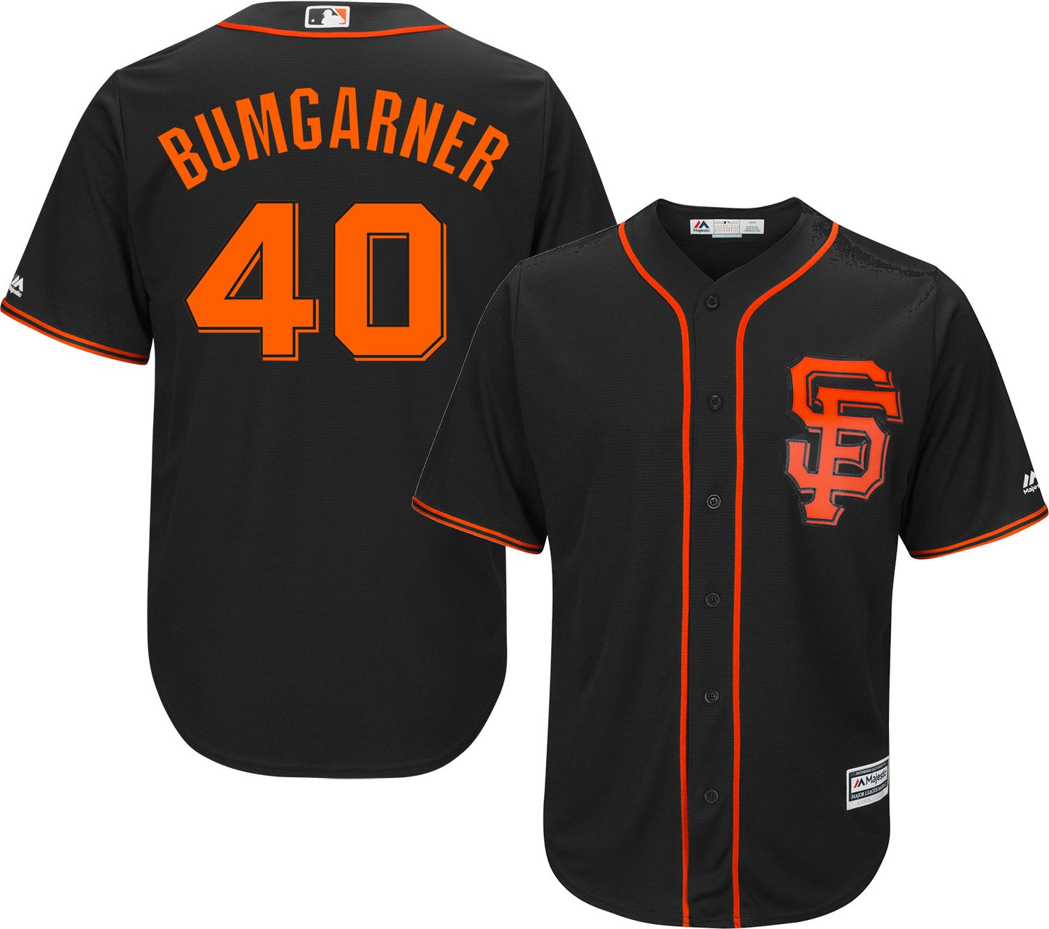 554d4e40856 closeout majestic mens replica san francisco giants madison bumgarner 40  cool base alternate black jersey f8946
