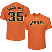 Majestic Men's San Francisco Giants Brandon Crawford #35 Orange T-Shirt