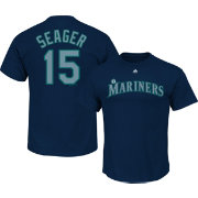 Majestic Men's Seattle Mariners Kyle Seager #15 Navy T-Shirt