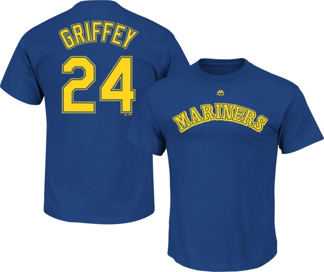 new concept 1b215 688ed Majestic Men's Seattle Mariners Ken Griffey Jr. #24 Royal T-Shirt