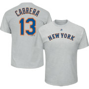 Majestic Men's New York Mets Asdrubal Cabrera #13 Grey T-Shirt