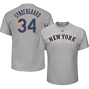Majestic Men's New York Mets Noah Syndergaard #34 Grey T-Shirt