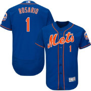 Majestic Men's Authentic New York Mets Amed Rosario #1 Flex Base Alternate Home Royal On-Field Jersey