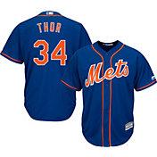 "Majestic Men's Replica New York Mets Noah Syndergaard ""Thor"" #34 Cool Base Alternate Royal Jersey"