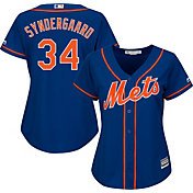 Majestic Women's Replica New York Mets Noah Syndergaard #34 Cool Base Alternate Royal Jersey