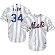 "Majestic Men's Replica New York Mets Noah Syndergaard ""Thor"" #34 Cool Base Home White Jersey"