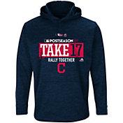 "Majestic Men's Cleveland Indians 2017 MLB Postseason ""Take 17"" Navy On-Field Therma Base Hoodie"