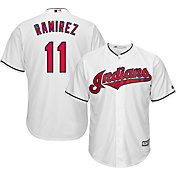 Majestic Men's Replica Cleveland Indians Jose Ramirez #11 Cool Base Home White Jersey