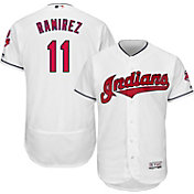 Majestic Men's Authentic Cleveland Indians Jose Ramirez #11 Flex Base Home White On-Field Jersey