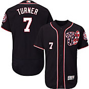 Majestic Men's Authentic Washington Nationals Trea Turner #7 Flex Base Alternate Navy On-Field Jersey