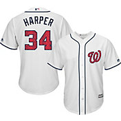 Majestic Men's Replica Washington Nationals Bryce Harper #34 Cool Base Home White 2018 4th of July Jersey