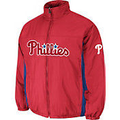 Majestic Men's Philadelphia Phillies Double Climate On-Field Red Jacket