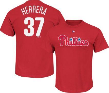 Majestic Men s Philadelphia Phillies Odubel Herrera  37 Red T-Shirt ... 8ae9cadf7f6