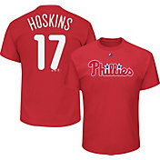 Majestic Men's Philadelphia Phillies Rhys Hoskins #17 Red T-Shirt