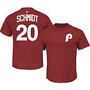 Majestic Men's Philadelphia Phillies Mike Schmidt #20 Red T-Shirt