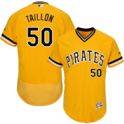 Majestic Men's Authentic Pittsburgh Pirates Jameson Taillon #50 Flex Base Alternate Gold On-Field Jersey