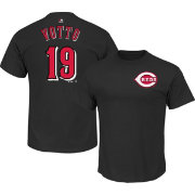 Majestic Men's Cincinnati Reds Joey Votto #19 Black T-Shirt