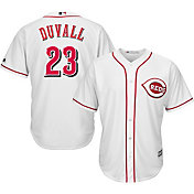 Majestic Men's Replica Cincinnati Reds Adam Duvall #23 Cool Base Home White Jersey